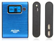 POWERBANK * 7800mah ✔ GESTATTBL * Dual-USB * mobile batteria slice ✔ ✔ ✔ LCD LED ✔ 6 xzubehör ✔ Blu/Blue *