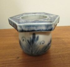 Antique Chinese blue and white brush washer ink pot 19th