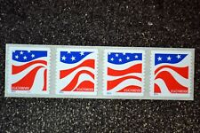 USA2014 #4894-4897 Forever Red White and Blue Plate Number Coil Strip 4 Mint PNC