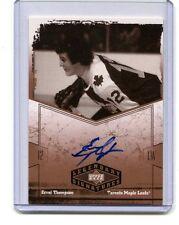2004 UD Legendary Signatures #ET Errol Thompson Maple Leaf Autographed Card jh11