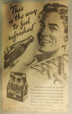 "Coca-Cola ad: ""The Way To Feel Refreshed"" 1930's ~ 6.5 x 9 inches 1930's"