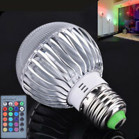 E27 15W RGB LED Light Color Changing Lamp Bulb 85-265V With Remote Control Sales
