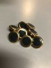 St. John Blue Gray Small Gold Button Lot of 8