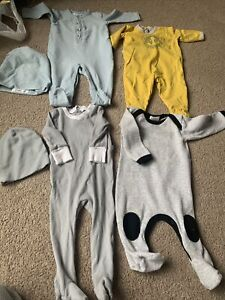 Lot Baby Boy Strechies Footies One Piece Little Parni Petit Bateau Coco Blanc