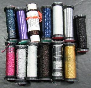 13x Needlepoint/Embroidery THREAD KREINIK 4 Brd/Cord/Blnding Flmt metallic-ZZ502