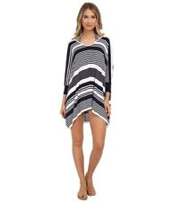 642f9e1b72263 Tommy Bahama Stripe Oversized Beach Sweater Navy White Swim Cover Size  Small S