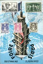 carte postale Foire de Paris 1952 8ème salon international de la philatélie