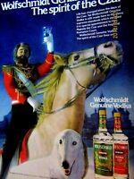 """1990 Wolfschmidt Vodka Original Print Ad 8.5 x 11"""""""