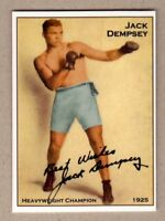 JACK DEMPSEY HEAVYWEIGHT BOXING CHAMPION RARE NYC CAB CARD