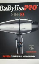 BABYLISS PRO STEEL FX Professional 2000W Hair Dryer BABSS8000 FERRARI ENGINE