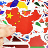 50 PCS National Flags Stickers Toys for Children Countries Map Travel Sticker