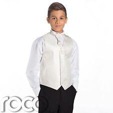 Boys Ivory & Black Suit, Page Boy Suits, Boys Wedding Suits, Boys Waistcoat Suit