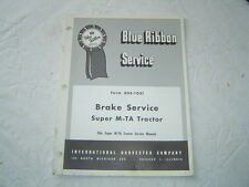 Ih International farmall super M-Ta tractor brake service manual