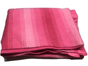 "VTG Plaid Blanket Pink 68x86""Farmhouse Bedding Twin-Full Warm Home Decor"