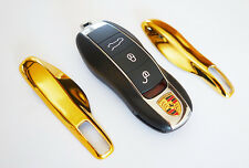 GOLD PORSCHE Remote Key Cover Case Skin Shell Cap Fob Protection Hull Trim 911