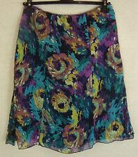 Geblümte schwingende Damenröcke aus Polyester für die Freizeit