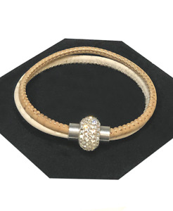 Natural Cork Bracelet with Diamante Centrepiece | Stunning Vegan Jewellery Gift