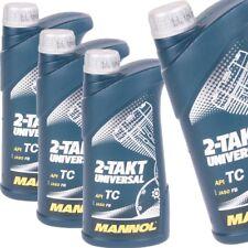 3 Liter Mannol 2-Takt Universal Motoröl API TC JASO FB Motorrad Öl  Mofa Roller