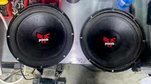 Pair of Rockford Fosgate Subwoofer max power RFP-1410 10 Inch - Old School!