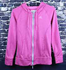 Adidas Climawarm Pink Sweater Size XS Premium Ultimate Double Zipper Hoodie