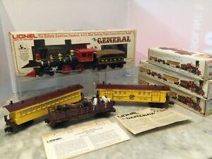 LIONEL GENERAL SET ENGINE 6-8701,6-9551,9552,9553 IN BOX ,INSCRIPTION -WORK