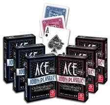 NEW 12 Decks 1 Dozen Ace 100% Plastic Playing Cards Cartamundi Washable Durable