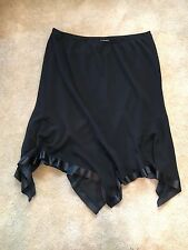 Dress Barn Skirt Black Career Plus Sz 24W Womens Asymmetric