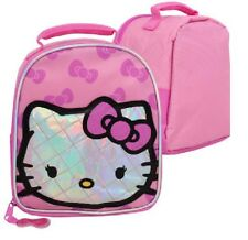 Cute Pink Girl's Sanrio Hello Kitty Insulated lunch bag Cooler School Snack Bag