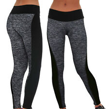 Women Ladies Yoga Pants Fitness Leggings Gym Sports Trousers Workout Wear Black
