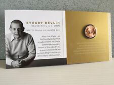 2017 Royal Australian Mint Genuine Uncirculated Sealed Stuart Devlin 2 Cent Coin