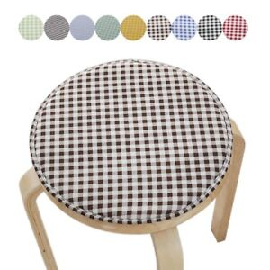 Bar Stool Cover Padded Chair Slipcover Buckle Seat Cushion Round Protector 33cm