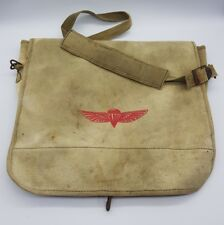 Post WW2 Israel IDF Airborne Paratroopers Canvas Satchel Bag 6 Day War GENUINE