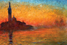VENICE BY TWILIGHT POSTER (61x91cm) CLAUDE MONET NEW LICENSED ART