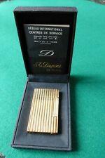 Design Feuerzeug S.T. Dupont, Paris - selten - vergoldet 20µ Linie