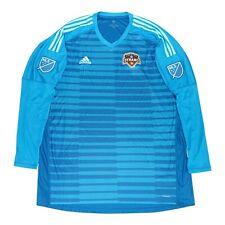 Houston Dynamo MLS Adidas Men's Blue AdiPro Long Sleeve Goalkeeper Jersey