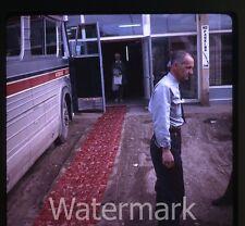 1960s  Kodachrome Photo slide Westours Bus Fort Nelson British Columbia Canada