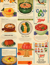1964 vintagead, Shelf-Full of Libby's Food Products, tomato aspic, beets  080613