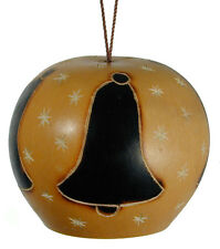 Holiday Bell Gourd Ornament from Peru - Fair Trade & Handmade
