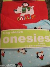 NWT 0-3 mos Gerber 2 onesies outfits 'chillin' penguin polar bear