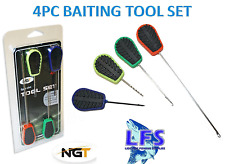 A0290 NGT 4PC BAITING TOOL SET CARPFISHING INNESCO BOILIES HAIR RIG OFFERTA NEW