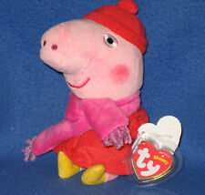TY  PEPPA PIG WINTER BEANIE BABY - NEW MINT with MINT TAGS - UK EXCLUSIVE