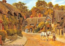 BR92056 the old village shanklin isle of wight postcard painting   uk