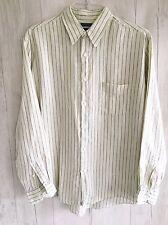 J Crew sz L men's shirt 100% irish linen Cream, Beige