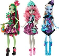 Monster High Party Ghouls Venus McFlytrap Rochelle Goyle Abbey Bominable 3 Dolls