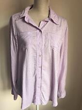 Mackays Womens Lilac Shirt Size 16 (005)