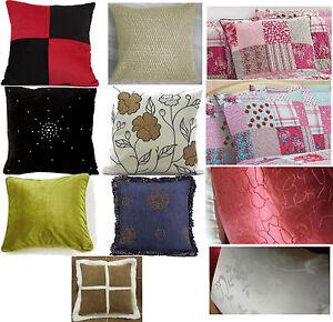 Large 56cm x 56cm / 40x40cm Cushion Covers Variety Designs Throws Home Decor