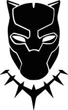 "Black Panther Wall Decal 23"" x 37"""