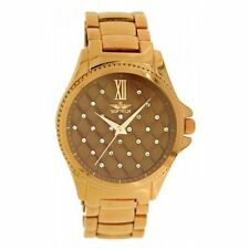 Gold Plated Case Round Not Water Resistant Watches