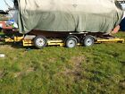 Car transporter trailer Twin axled braked with independent suspension.