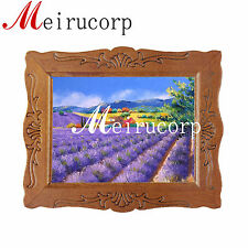 1:12 scale fine miniature picture purple lavender garden dollhouse decoration